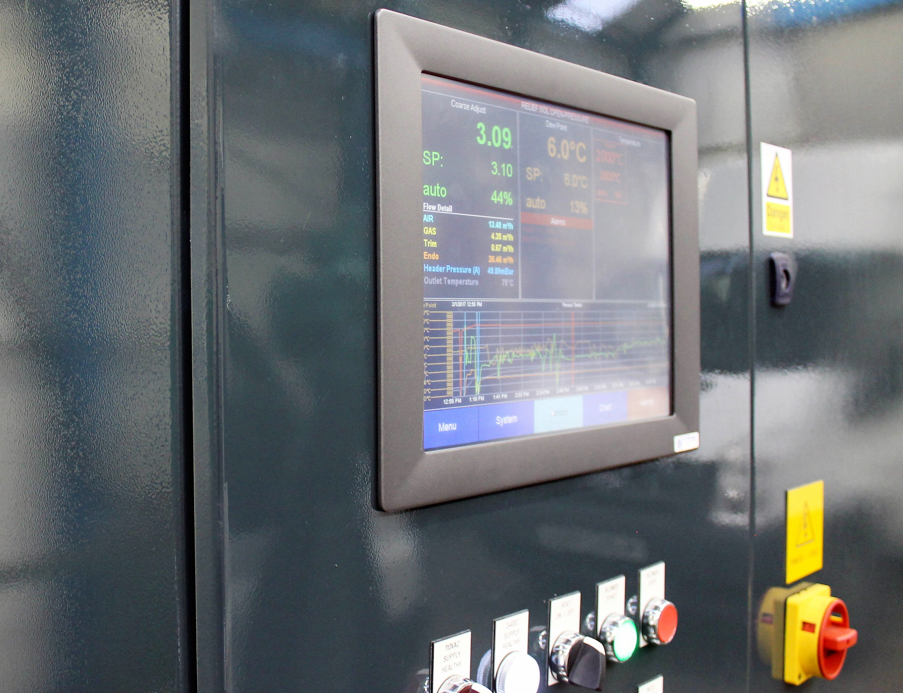 Endothermic Gas Generator Control Systems Range Super Systems Europe