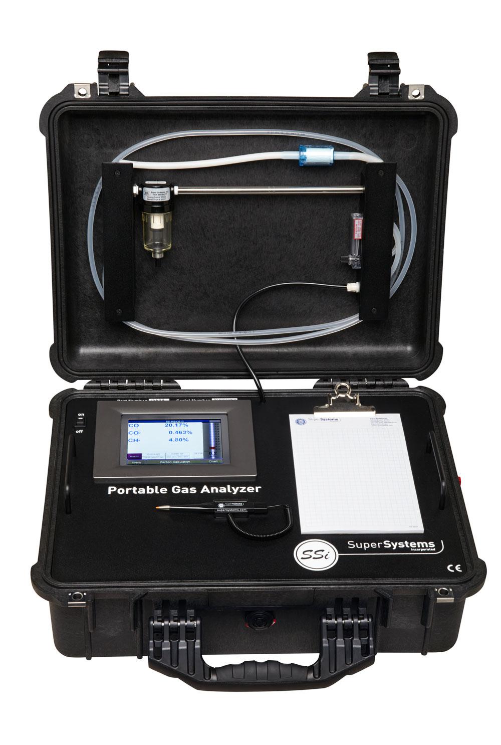 Portable Three Gas Co Co2 Ch4 Gas Analyser Super